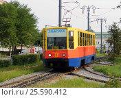 Купить «Трамвай 71-608К № 301 на Амурском бульваре в Хабаровске», фото № 25590412, снято 27 августа 2012 г. (c) Дмитрий Гаврилюк / Фотобанк Лори