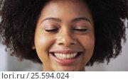 Купить «happy african american young woman face», видеоролик № 25594024, снято 8 февраля 2017 г. (c) Syda Productions / Фотобанк Лори