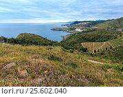Купить «Summer coast view from Cap Canadell, France.», фото № 25602040, снято 2 июня 2016 г. (c) Юрий Брыкайло / Фотобанк Лори