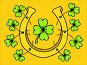 Saint Patrick Day. Hand drawn lucky horseshoe and clover., иллюстрация № 25603940 (c) Виктория Муравьева / Фотобанк Лори