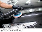Polished black car. Стоковое фото, фотограф Евгений Лосев / Фотобанк Лори