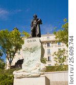 Купить «Estatua de Goya. Madrid», эксклюзивное фото № 25609744, снято 5 октября 2012 г. (c) Владимир Чинин / Фотобанк Лори