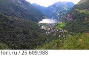 Купить «Geiranger fjord, Norway.», видеоролик № 25609988, снято 24 января 2017 г. (c) Андрей Армягов / Фотобанк Лори