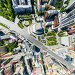 Aerial city view with roads, houses and buildings, фото № 25614484, снято 20 июля 2013 г. (c) Александр Маркин / Фотобанк Лори