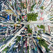 Aerial city view with roads, houses and buildings, фото № 25614492, снято 20 июля 2013 г. (c) Александр Маркин / Фотобанк Лори