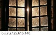 Купить «Old dirty fabulous windows are closed inside», видеоролик № 25615140, снято 23 февраля 2017 г. (c) Mikhail Davidovich / Фотобанк Лори