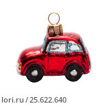 Christmas tree toy-car. Стоковое фото, фотограф Дмитрий Климчук / Фотобанк Лори