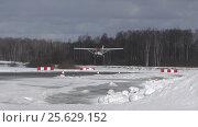 Купить «Самолет Cessna 182RG (бортовой RA-2373G), посадка с уходом после касания», эксклюзивный видеоролик № 25629152, снято 28 февраля 2017 г. (c) Alexei Tavix / Фотобанк Лори