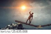 Купить «Overcoming fear of failure . Mixed media . Mixed media», фото № 25635008, снято 25 марта 2014 г. (c) Sergey Nivens / Фотобанк Лори