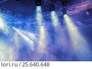 Купить «Сценические огни. Софиты. Концертное освещение», фото № 25640648, снято 20 января 2019 г. (c) Евгений Ткачёв / Фотобанк Лори