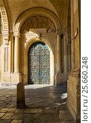 Купить «Delicate wrought-iron door on the Grandmaster's Palace, Valletta, Malta», фото № 25660248, снято 24 июля 2015 г. (c) Serg Zastavkin / Фотобанк Лори
