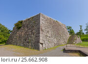 Основание донжона (главной башни) замка Ако, г. Ако, Япония (2016 год). Стоковое фото, фотограф Иван Марчук / Фотобанк Лори