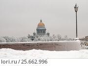 Купить «Зимний Санкт-Петербург. Река Нева», эксклюзивное фото № 25662996, снято 14 января 2010 г. (c) Александр Алексеев / Фотобанк Лори
