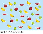 Fruit seamless background. Стоковое фото, фотограф Ирина / Фотобанк Лори