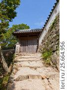 Купить «Восточные ворота в замке Биттю Мацуяма, город Такахаси, Япония», фото № 25664956, снято 20 июля 2016 г. (c) Иван Марчук / Фотобанк Лори