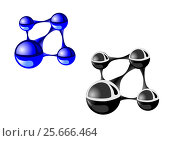 Molecule on white background. Стоковая иллюстрация, иллюстратор Ирина / Фотобанк Лори