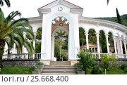 Купить «View of the Gagra colonnade. Gagra, Abkhazia», фото № 25668400, снято 26 сентября 2014 г. (c) Александр Карпенко / Фотобанк Лори