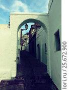 archway at street of Arcos de la Frontera (2014 год). Стоковое фото, фотограф Яков Филимонов / Фотобанк Лори