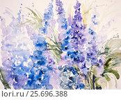 Купить «Watercolor by Waltraud Zizelmann,», фото № 25696388, снято 24 февраля 2014 г. (c) mauritius images / Фотобанк Лори