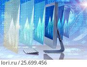 Computer screen in business concept. Стоковое фото, фотограф Elnur / Фотобанк Лори