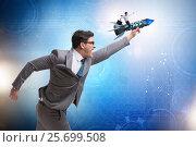 Купить «Businessman in start up business concept», фото № 25699508, снято 27 июня 2019 г. (c) Elnur / Фотобанк Лори