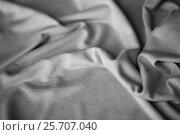 Купить «close up of gray textile or fabric background», фото № 25707040, снято 15 сентября 2016 г. (c) Syda Productions / Фотобанк Лори