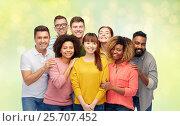 Купить «international group of happy smiling people», фото № 25707452, снято 29 октября 2016 г. (c) Syda Productions / Фотобанк Лори