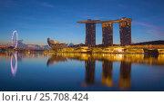 Купить «Sunrise Timelapse - Singapore Marina Bay», видеоролик № 25708424, снято 23 марта 2019 г. (c) Кирилл Трифонов / Фотобанк Лори