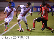 Купить «8 Jimmy Marin, 4 Ian Smith, 3 Kori Cupid. Costa Rica earned a 1-0 win over Trinidad & Tobago on Wednesday february 22, 2017 at the Estadio Nacional. CONCACAF Under-20 Championship.», фото № 25710408, снято 22 февраля 2017 г. (c) age Fotostock / Фотобанк Лори