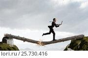 Купить «Overcoming fear of failure . Mixed media . Mixed media», фото № 25730416, снято 25 марта 2014 г. (c) Sergey Nivens / Фотобанк Лори
