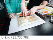 process of making sushi. Стоковое фото, фотограф Алексей Суворов / Фотобанк Лори