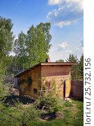 Деревянная баня на садовом участке. Стоковое фото, фотограф Юлия Дьякова / Фотобанк Лори