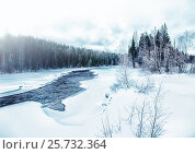 Купить «Зимний пейзаж. Река Писта. Карелия.», фото № 25732364, снято 12 марта 2017 г. (c) Наталья Осипова / Фотобанк Лори