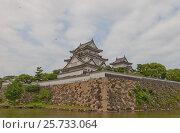 Купить «Главная башня (донжон) замка Кисивада, Япония. Построен в 1585 г., сгорел в 1827 г., восстановлен в 1954», фото № 25733064, снято 24 июля 2016 г. (c) Иван Марчук / Фотобанк Лори