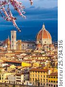 Купить «Duomo cathedral in Florence at spring», фото № 25734316, снято 15 октября 2012 г. (c) Sergey Borisov / Фотобанк Лори