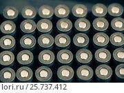 Купить «Патроны калибра 9мм в коробке», фото № 25737412, снято 20 февраля 2020 г. (c) Михаил Михин / Фотобанк Лори