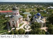 Chitcani, Moldova, view over the monastery complex Neu-Niamtz (2016 год). Редакционное фото, агентство Caro Photoagency / Фотобанк Лори
