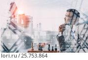 He needs winning strategy . Mixed media, фото № 25753864, снято 27 апреля 2017 г. (c) Sergey Nivens / Фотобанк Лори