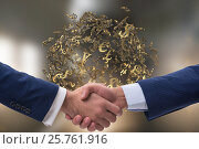 Купить «Handshake concept - business metaphor illustration», фото № 25761916, снято 21 ноября 2019 г. (c) Elnur / Фотобанк Лори