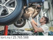 Mechanic in service. Стоковое фото, фотограф Raev Denis / Фотобанк Лори