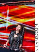 Купить «Beautiful dj in night club», фото № 25765844, снято 17 ноября 2016 г. (c) Raev Denis / Фотобанк Лори