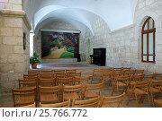 Купить «Концертный зал в католическом монастыре Бейт Джамал», фото № 25766772, снято 17 февраля 2017 г. (c) Irina Opachevsky / Фотобанк Лори