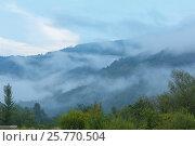 Купить «Evening mist in mountain», фото № 25770504, снято 29 июля 2016 г. (c) Юрий Брыкайло / Фотобанк Лори