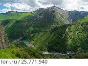 Купить «Виды с Военно-Грузинской дороги», фото № 25771940, снято 13 июня 2016 г. (c) Валерий Ситников / Фотобанк Лори