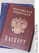 Купить «Российский паспорт», эксклюзивное фото № 25776216, снято 17 марта 2017 г. (c) Яна Королёва / Фотобанк Лори