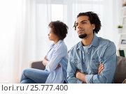 unhappy couple having argument at home. Стоковое фото, фотограф Syda Productions / Фотобанк Лори
