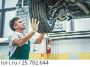 Mechanic in uniform. Стоковое фото, фотограф Raev Denis / Фотобанк Лори