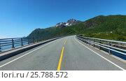Купить «Driving a Car on a Road in Norway», видеоролик № 25788572, снято 16 марта 2017 г. (c) Андрей Армягов / Фотобанк Лори