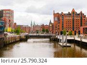 View of Hamburg, Germany. Стоковое фото, фотограф Сергей Петерман / Фотобанк Лори