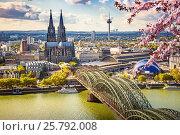 Купить «Aerial view of Cologne at spring», фото № 25792008, снято 22 сентября 2012 г. (c) Sergey Borisov / Фотобанк Лори